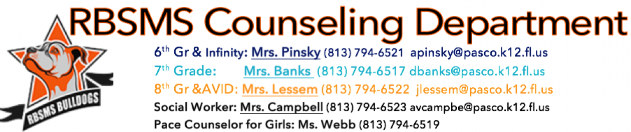 R.B. Stewart Middle School Counselors
