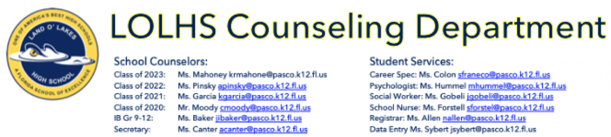 Land O Lakes High School Counselors